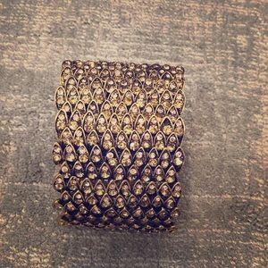Jewelry - Costume jewelry gold and rhinestone bracelet